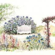 Le jardin fleuri, anglais